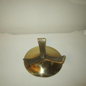 Vintage Accents - Vintage Brass Round Candle Holder